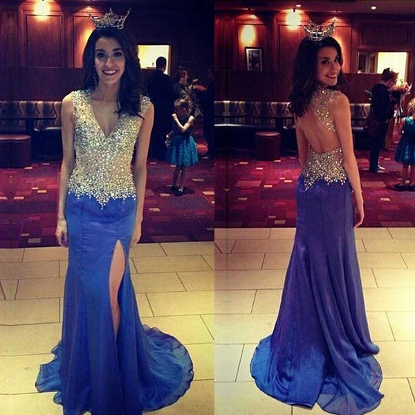 3cb824c6abcc Backless Prom Dresses,Open Back Prom Gowns,Royal Blue Prom Dresses 2019,2019