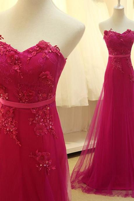 Hot Pink Evening Dress On Luulla