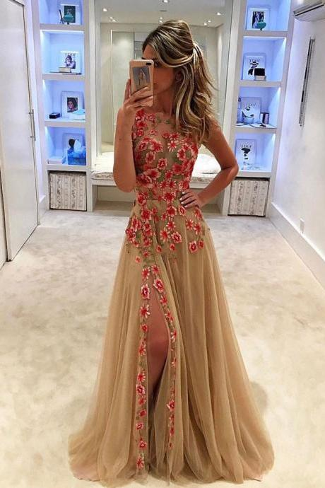 Champagne Prom Dresses,Charming Evening Dress,Champagne Prom Gowns,Champagne Prom Dresses,New Prom Gowns,Champagne Evening Gown PD20192893