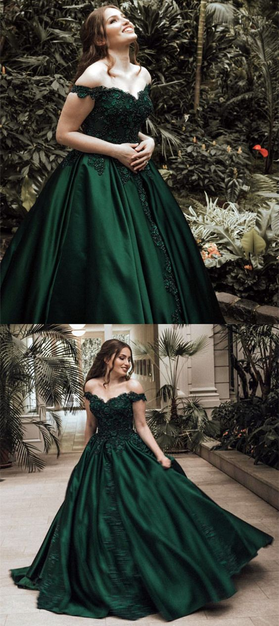 18% OFF. dark green wedding dress 816180887